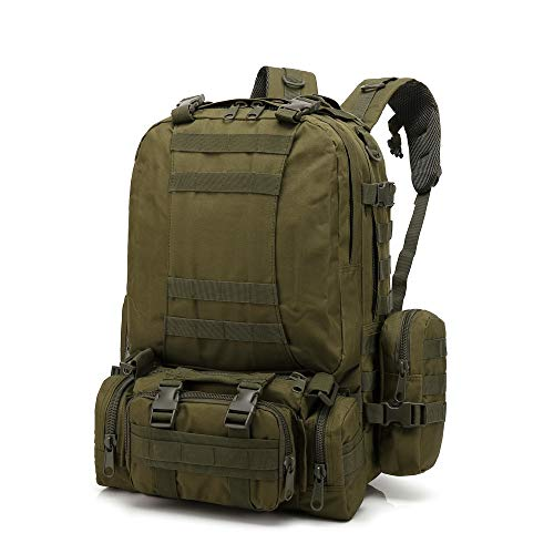 Mochila Militar,JiaMeng Mochila táctica Militar al Aire Libre Paquete de Asalto Mochila de Combate Mochila de Trekking Mochila Hombre Senderismo Deporte Viaje Grande Trekking