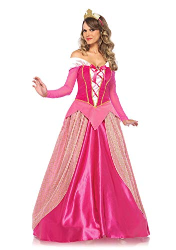 Leg Avenue-Pink Princess Aurora Fancy Dress Costume (Medium/UK 10-12, 2-Piece) Mujer, Color Rosa, (EUR 38-40) (85612)