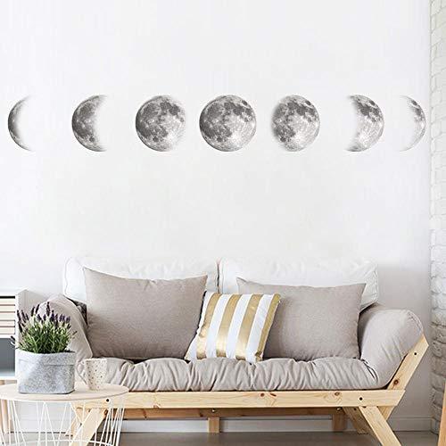 Mondphase Diagramm Wandaufkleber Alle Phasen Tapete Schlafzimmer Wohnzimmer Dekoration Kunst Aufkleber Verfügbar Wandtattoo