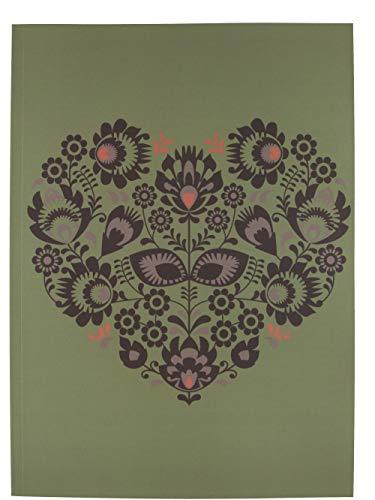 A4 Notitieboek Hart Groen Gelijnd Lijntjes 100 pagina's 50 grams papier