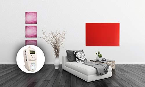 HoWaTech Infrarot Glasheizkörper 60x80cm 600W Heizpaneel mit Steckdosenthermostat kaufen  Bild 1*
