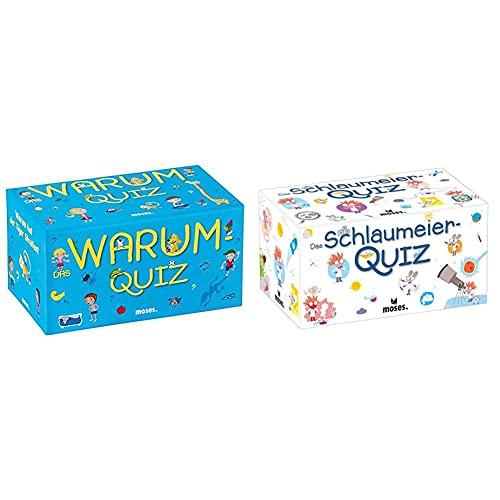 moses. Das Warum-Quiz | Kinderquiz | Für Kinder ab 6 Jahren & 90208 Das Schlaumeier-Quiz | Kinderquiz | Für Kinder ab 8 Jahren