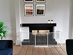 Only configure system fulfilling newest european safety standard Multi purpose hearth gate and extra wide room divider Flexible and easy to fit Extra wide door opening section giving 52cm clearance Wall fittings included There are 5 panels in total, ...