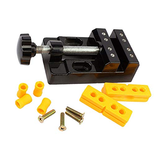 57mm mordaza banco abrazadera mini taladro prensa vice micro clip apertura mesa paralela plana vises plana alicates DIY accesorio herramientas manuales