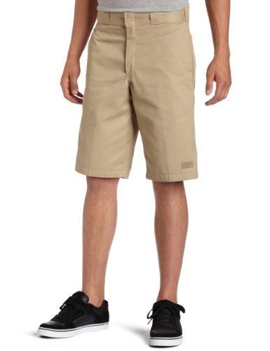 Dickies Mens 13 Inch Relaxed Fit Multi-Pocket Short, Khaki, 34