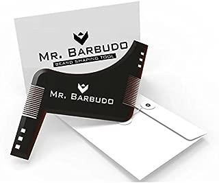 Peine Plantilla Guía para Barba Hombre Talla única Afeitado de Mr. Barbudo