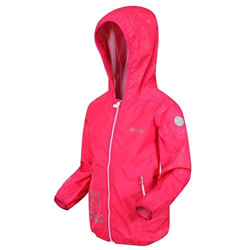 Regatta Unisex-Child Peppa Active Shell Jacket, BrtBlushFlor, 12 Months