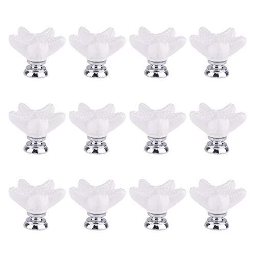 Joyindecor Ceramic Starfish Drawer Pulls Handles for Nursery Dresser Cupboard Wardrobe Cabinet Kitchen, Beach/Ocean Theme Knobs, Pack of 12 (White)