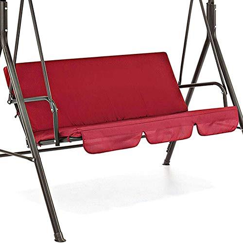 TTFLY Abdeckung für Hollywoodschaukel, wasserdichtes Kissen, für Terrasse, Garten, Hof, Outdoor-Sitz-Ersatz – 150 x 50 x 10 cm rot