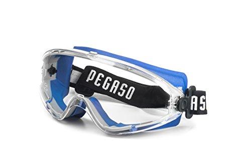 PEGASO 22 - Gafas proteccion gama ANTI-IMPACT modelo EOS Lente PC Incolora antivaho, azul y gris, l