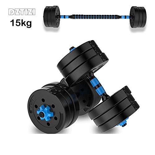 Verstellbare Hanteln Set Gym Equipment Hantel 2-in-1 Hantel/langhantel Für Training Fitness, Körpertraining,15kg/33lbs