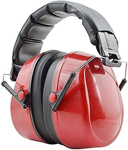 AACXRCR Orejeras insonorizadas, prevención de Ruidos industriales, Trabajo, Estudio, protección auditiva cómodo (Color: Rojo, tamaño: uno Tamaño) (Color: Rojo, Tamaño: Un tamaño)
