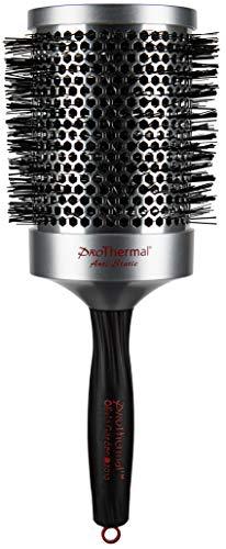 Olivia Garden Rund-Haar-Bürste Pro Thermal T83, für schnelles und schonendes Föhnen und Glätten langer Haare, antistatische Rundbürste mit wärmespeicherndem Aluminium-Körper, 83/105 mm Durchmesser
