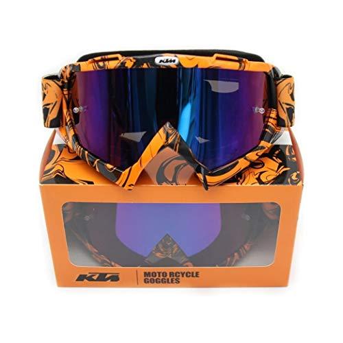 Gafas de Motocross, Enduro, MTB, Esquí, Snowboard, Supermotard, Offroad (Azul)