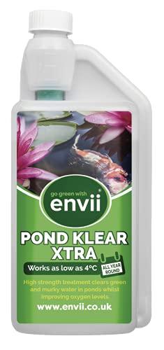 Envii Pond Klear Xtra - Tratamiento de agua verde - 3 X Más Fuerte que Pond Klear - Funciona hasta 4 ° C - Trata 60000L