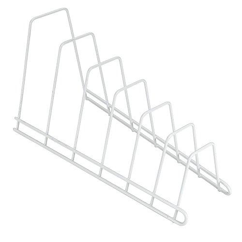 Metaltex Sector - Soporte 6 tapaderas, banderas o tablas, color blanco