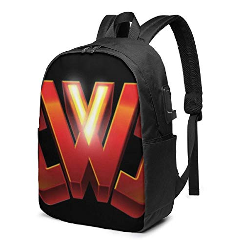 Hdadwy Chad Vy USB School Backpack Large Capacity Canvas Satchel Casual Travel Daypack for Adult Teen Women Men 17in