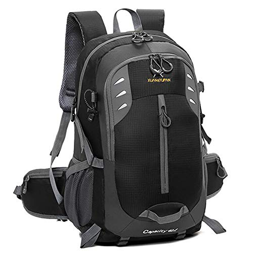 TnXan Simple Large Capacity Travel Backpack Trekking Rucksacks 40L Light Waterproof Nylon Sports Hiking Camping Backpack Ski Kit Bags
