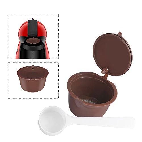 OurLeeme ricaricabile riutilizzabili Dolce Gusto caffè in capsule Compatibile con Nescafe Genio, Piccolo, Esperta e Circolo (1PCS)