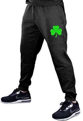 Interstate Apparel Green Shamrock V369 Men's Black Fleece Gym Jogger Sweatpants Medium Black