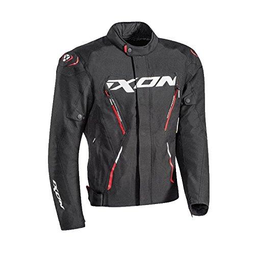 Ixon–Chaqueta de moto para hombre MISTRAL talla negro rojo, talla M