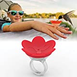 ZUMMR Hummingbird Ring Feeder (Red) - Hand Feed Hummingbirds Right in Your Backyard. Get up Close and Personal with Nature. Proudly Made in The U.S.A. - The Original