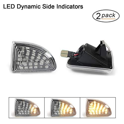 LED Dynamische LED Seitenblinker Blinker OZ-LAMPE 2 X Bernstein 18 SMD mit Nicht-Polarität CAN-Bus-Fehlerfrei OE-Buchse klar Für BEN-Z Smart Fortwo W451 Coupe/Cabrio 2007-2019