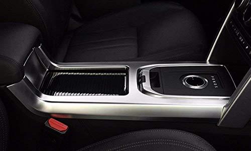 Cadre en Plastique ABS Chrome Autocollant de Cadre de Couverture de Changement de Vitesse pour Discovery Sport 2015 2016 Accessoires intérieurs de Voiture Argent Mat