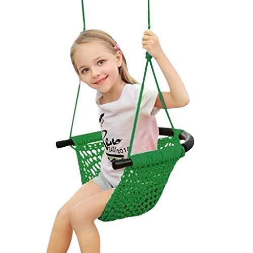 Swing Kids, Asiento columpio for niños con cuerdas ajustable for trabajo pesado de Cuerdas seguro niños columpios mano creación de juegos Columpio de cuerda Asiento Plataforma oscilación del patio del