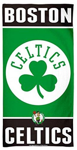 WinCraft NBA Boston Celtics Beach Towel, 30 x 60 inches, Fiber 100% Cotton