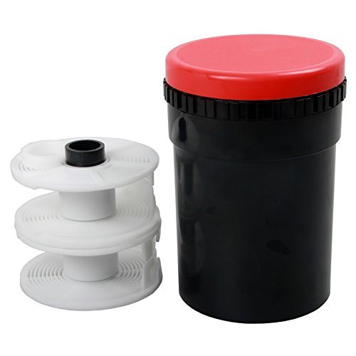 Universal Compact Developing Tank 2 Spiral Reel for Processing 120 135 126 127 B/W Film Camera Film Processing Equipment