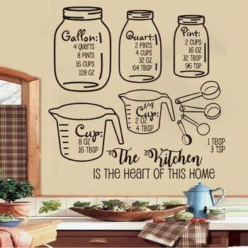 Paquete grande de hojas de medición de cheet para cocina, comedor, tarro...