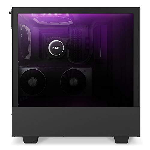 NZXT H510 Elite Mid Tower PC-Gaming-Gehäuse mit Sichtfenster, Schwarz