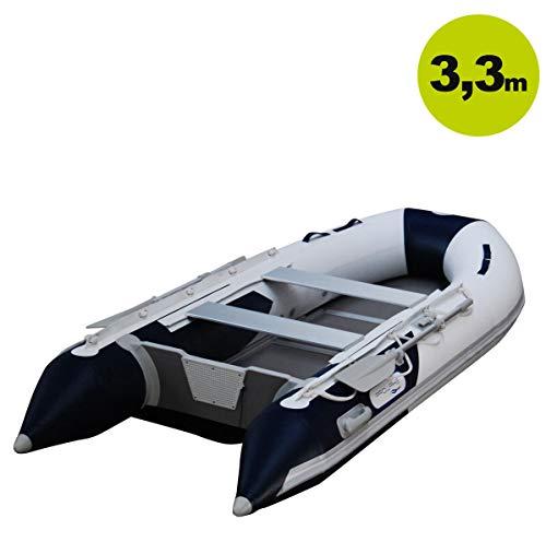 Prowake Schlauchboot AL330: 330cm lang mit Alu-Boden - blau/weiß - ideal für 3-4 Personen
