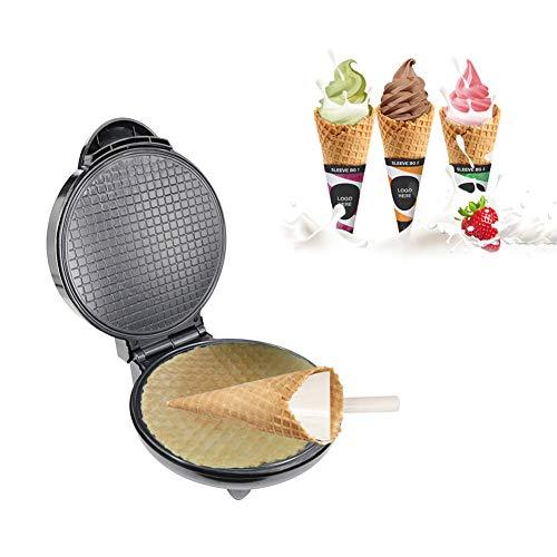 Gofrera Eléctrico Máquina De Cono De Helado, Waffle Cone Maker, Rollos De Huevo Antiadherente Bandeja De Postre Cocina Regalo