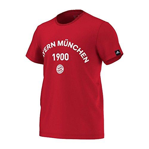 Adidas FC Bayern München T-Shirt à Manches Courtes pour Homme Motif 3 L FCB True Red