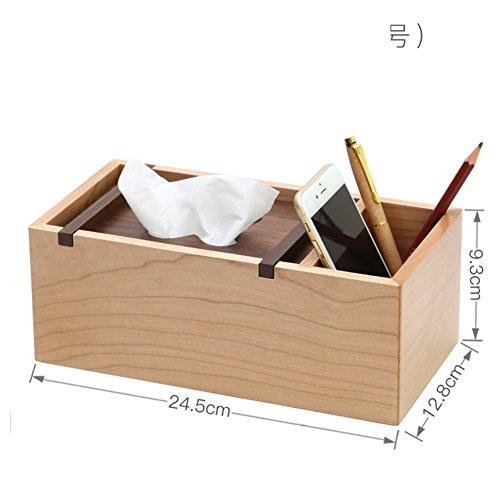 Hxdeli Natürlichen Stifthalter Tissue Box,Tv-Fernbedienung Caddy Chinesischer Stil Minimalismus Aufbewahrungsbox-B