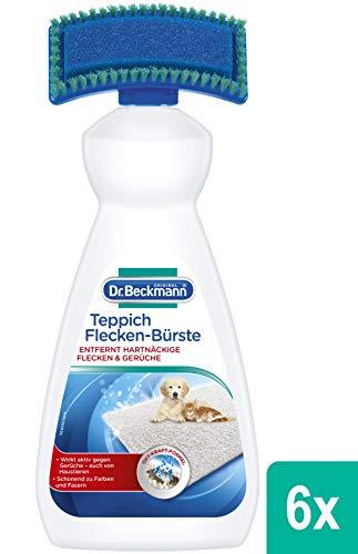 Dr. Beckmann Teppich Flecken-Bürste 6x 650 ml | Teppichreiniger zur Entfernung selbst hartnäckiger Flecken und Gerüche | inkl. Bürstenapplikator