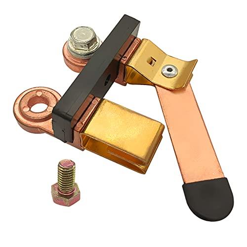 Interruptor maestro de cuchilla de poste lateral Ampper, interruptor de desconexión de batería de 12 V/24 V, aislador para vehículos marinos de coche, barco, RV, ATV (con perno largo)