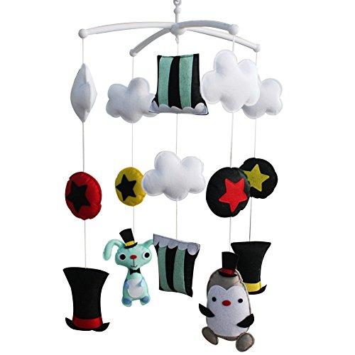 Décoration de pépinière de cadeau de jouet mobile de lit de bébé fait main pour 0-2 ans, MQ06