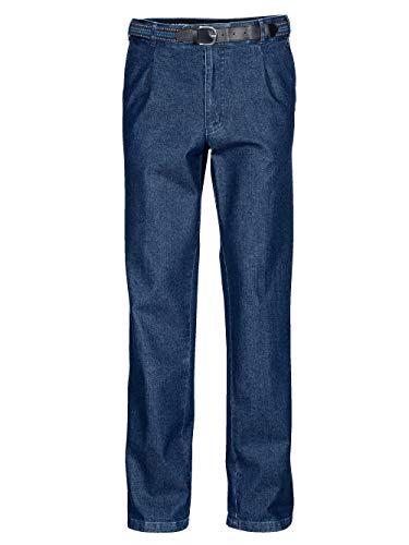 BABISTA Herren Bundfalten-Jeans – Männer-Hose aus Baumwoll-Mix, Regular Fit Jeans-Hosen inkl. Gürtel, Klassische Freizeit-Hose in Blau Gr. 25