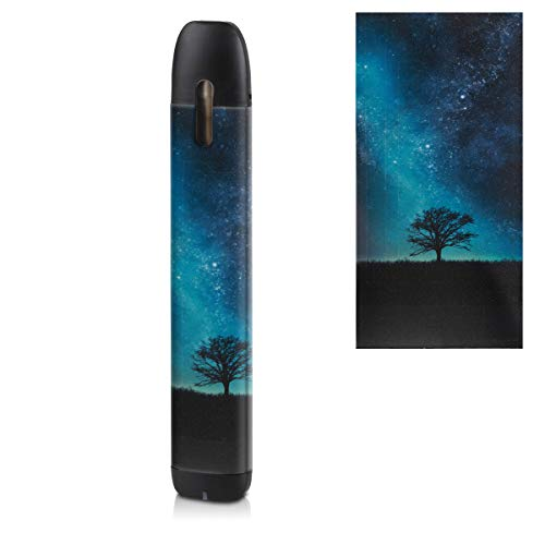 kwmobile Pegatina Compatible con myblu - Sticker para Cigarrillo electrónico árbol y Estrellas