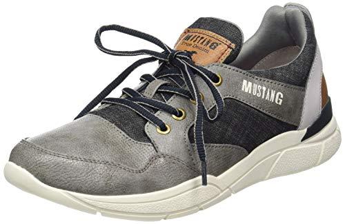 MUSTANG Shoes Halbschuhe in Übergrößen Grau 4138-301-2 große Herrenschuhe, Größe:49