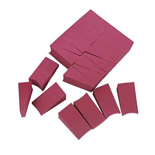 Frcolor 24pcs Poudre cosmétique hydrophile Puff Puff Maquillage Éponge Non-latex Cosmétiques Wedge Sponge for Women (Vin Rouge)