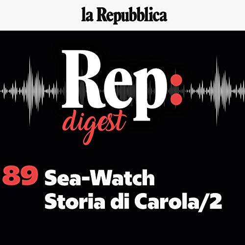 Sea-Watch, Storia di Carola 2 copertina