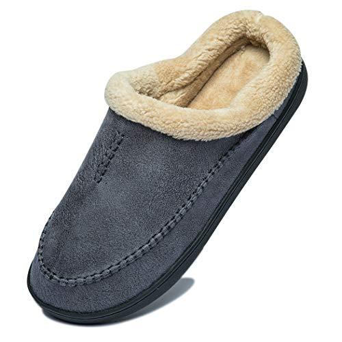 [DEENOR] ルームシューズ メンズ スリッパ 暖かい 冬用サンダル ボア付き ルームスリッパ あったか 滑り止め 履きやすい クッログ 室内/室外履き
