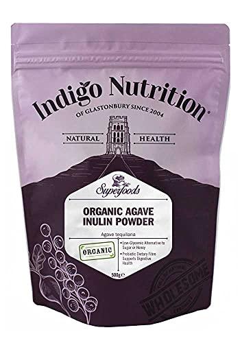 Indigo Herbs Organic Agave Inulin Powder 500g | Vegan & Gluten Free | Low Calorie | Sugar Alternative