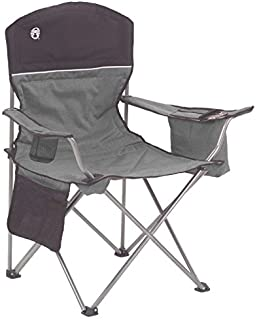 Coleman Camping Chair with 4 Can Cooler   Chair with Built In 4 Can Cooler, Gray