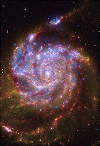 New Horizon Aviation, LLC Space Poster of The Messier 101 Galaxy Fine Art...