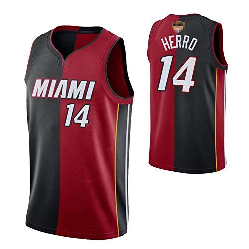 Miami Heat Jersey, Tyler Herro Basketball Uniform, 14 Polyester Mesh LlSwingman, Camiseta De Baloncesto Transpirable Y Resistente Al Desgaste Que Absorbe La Humeda A-S